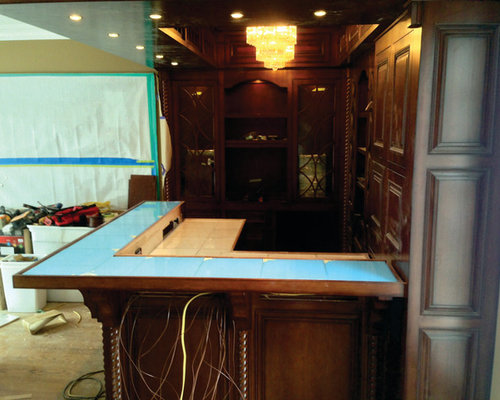 Eckelhoff electric slablite residential bar installation for Home bar installation