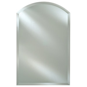 Afina Radiance Frameless Bevel Arch Top Mirrors, 20x35