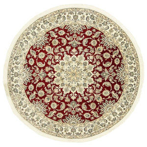 Nain 9La Persian Rug, Round Hand-Knotted Classic, 265x265 cm