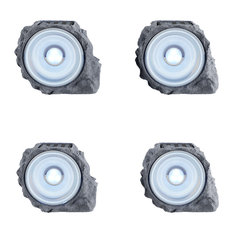 "4.3"" Solar Powered Rock Lights, Set of 4 by Pure Garden"