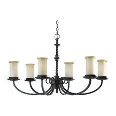 Santiago Collection 6-Light Chandelier, Forged Black