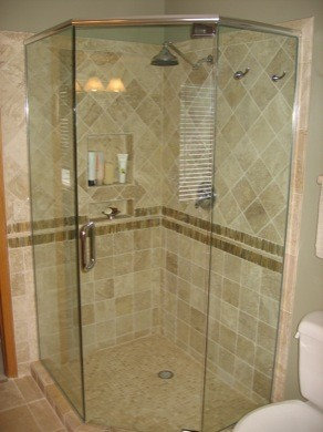 Frameless Neo Angle Shower Enclosures   Shower Stalls And Kits