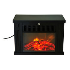 HomCom 14 1000W Free Standing Electric Fireplace, Black