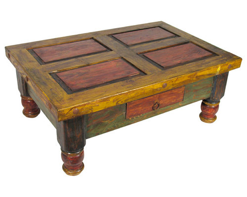 Old Mexico Painted Coffee Table   Coffee Tables