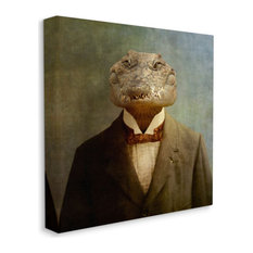 Alligator in Business Suit Men's Fashion Reptile17x17