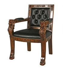 Design Toscano   Decorative Beardsley Faux Leather Lion Chair   Office  Chairs