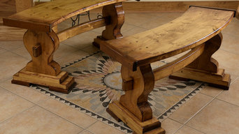Curve Trestle Benches Indoor & Outdoor