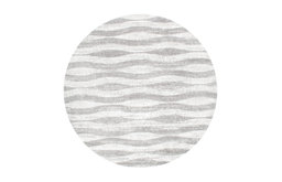 """Changing Tides Area Rug, Gray, 7'6"""" Round"""