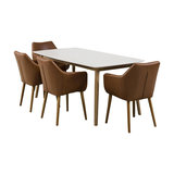 Nagane Dining Table And Nori Chairs, 4 Chairs