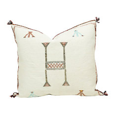 "Massa Moroccan Cactus Silk Pillow, 20""x20"", Cover Only"