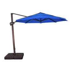 Phat Tommy 11' Cantilever Aluminum Market Patio Umbrella, Sunbrella Fabric