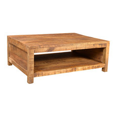 vidaXL Solid Mango Wood Coffee Table Cocktail Dining Stand Home Room Furniture