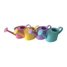 Panacea 84878 Pastel Colored Watering Cans, 0.25 Gallon, 4-Piece Set