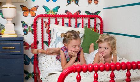Chambre d'enfant de la Semaine : Des papillons et des rangements malins