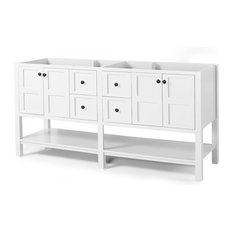 Anna Contemporary 72-inch Wood Bathroom Vanity Counter Top Not Included White