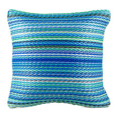 "Outdoor Accent Pillow Cancun Turquoise & Moss Green, 20""x20"""