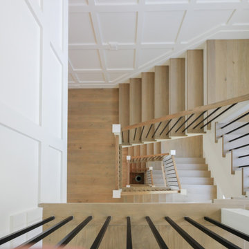 87_Welcoming and Functional Contemporary U-shaped Staircase, Arlington, VA 22207