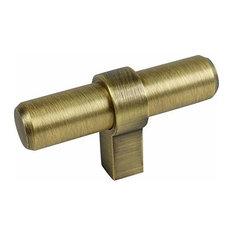 Cosmas 181BAB Brushed Antique Brass Euro Style T Bar Knob