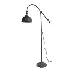 "21.5x10.5x66.5"" Arris Adjustable-Arm Floor Lamp"
