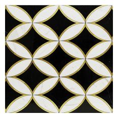Kaleidoscope Oblique Marble Tile