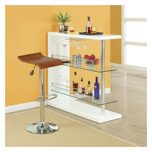 32 5 In Bar Stool In Oak Set Of 2 Contemporary Bar