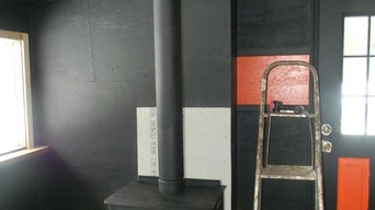 Black Stove Pipe/Chimney Pipe and Wood Stove