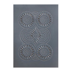Four Handcrafted Punched Tin Cabinet Panels Sturbridge Geometric, Country Tin