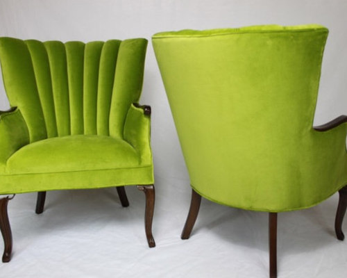 apple green channel back chairs