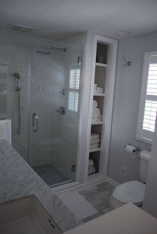 Bathroom Remodel White Subway And Carrara Marble