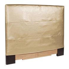 Luxe Headboard Slipcover, Gold, Full/Queen