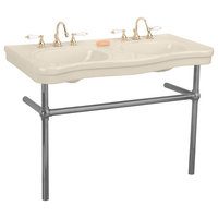 Bone Console Sink Double Deluxe with Black Nickel Bistro Legs