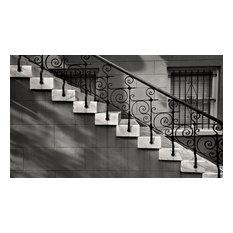 Decorative Iron & Marble Steps Savannah GA Fine Art Black and White Photography,