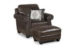 Simon Li Traditional Leather Chair, Ghost