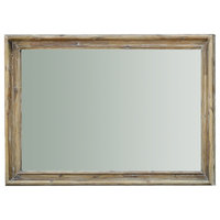 """48"""" Berengario Mirror Solid Distressed Wood Light Brown Antique Finish"""