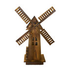 Classic Old-Fashioned Wooden Dutch Windmill