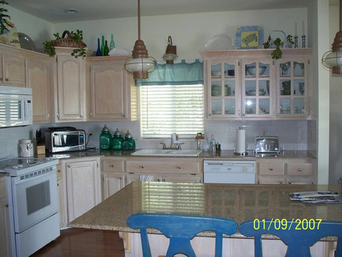 Help Need Help With Kitchen Cabinets Pickled No Character
