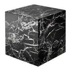 Black Marble Side Table Eichholtz Cube Link Black 20-inchx20-inchx20-inch