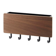 Rin Magnetic Key Rack With Tray, Brown