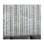 Birch Forest Stencil Allover, Reusable Stencils For Walls, DIY Wall Decor