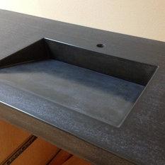 VC Studio Inc.   Madison Concrete Sink By VC Studio Inc.   Bathroom Sinks