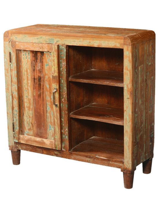Rounded Corners Rustic Reclaimed Wood Display Shelf Cabinet - China  Cabinets And Hutches - Reclaimed Wood Buffet Cabinets