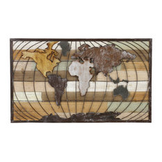 Aspire Home Accents, Inc. - Marco World Map Wall Decor - Wall Accents