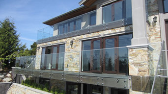 Exterior railing in a beautiful house in British Properties