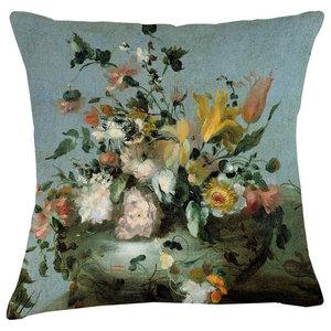 Velvet Tableau Cushion, Bouquet