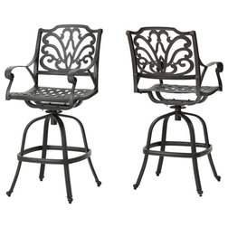 Mediterranean Outdoor Bar Stools And Counter Stools by GDFStudio