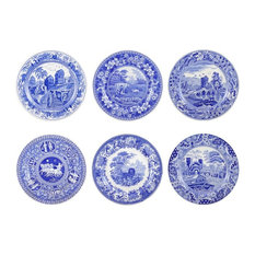 Spode Blue Room, 6-Piece Set Traditions Plates