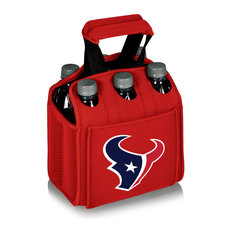 Houston Texans Six Pack Beverage Carrier, Red