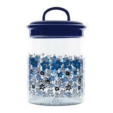 Butterfly Violets Airtight Storage Jar, 1200ml