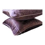 """Velvet Shimmer Pillow Covers Plum Purple 20""""x20"""", Plum Shimmer"""
