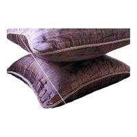 "Spiral Plum Cushion Covers, 22""x22"" Velvet Throw Pillows Cover, Plum Shimmer"